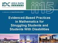 Evidenced-Based Practices in Mathematics for Struggling Students and Students With Disabilities