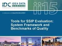 Tools for SSIP Evaluation: System Framework and Benchmarks of Quality