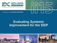 Evaluating Systemic Improvement for the SSIP