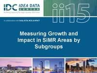 Measuring Growth and Impact in SIMR Areas by Subgroups