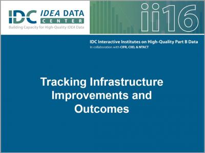 Tracking Infrastructure Improvements and Outcomes