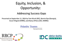 Equity, Inclusion, and Opportunity: Addressing Success Gaps via the SSIP Process