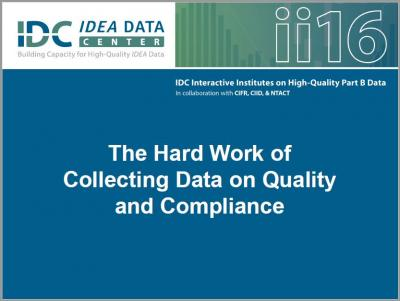 The Hard Work of Collecting Data on Quality and Compliance