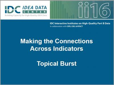 Making the Connections Across Indicators