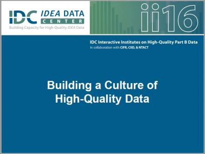 Building a Culture of High-Quality Data