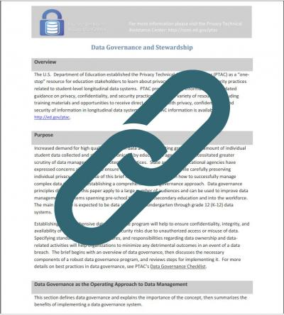 Issue Brief: Data Governance and Stewardship