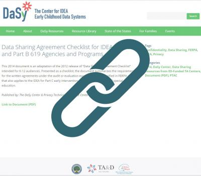 Data Sharing Agreement Checklist for IDEA Part C and Part B 619 Agencies and Programs