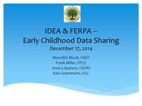 IDEA & FERPA--Early Childhood Data Sharing