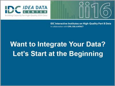 Want to Integrate Your Data? Let's Start at the Beginning