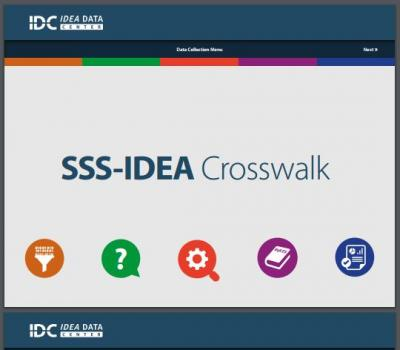 IDEA Part B SSS-IDEA Crosswalk | IDC - IDEA Data Center