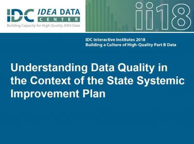 Understanding Data Quality in the Context of the SSIP