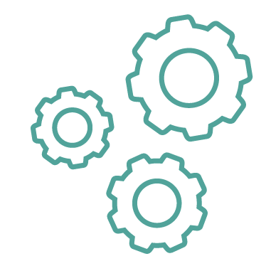 Drawing of three gears meshing together