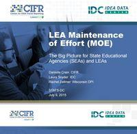 Maintenance Of Effort Moe >> Lea Maintenance Of Effort Moe The Big Picture For State